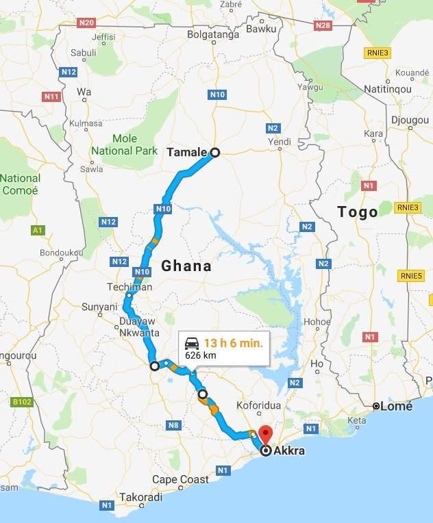 Trasa Accra - Tamale