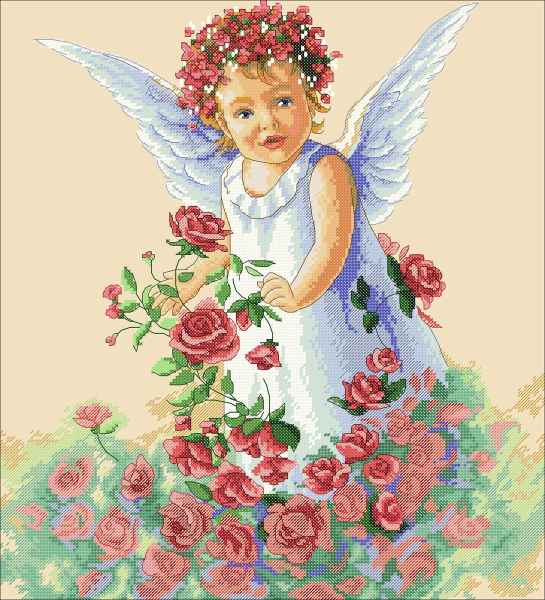 Цветочный ангел от дименшенс схема