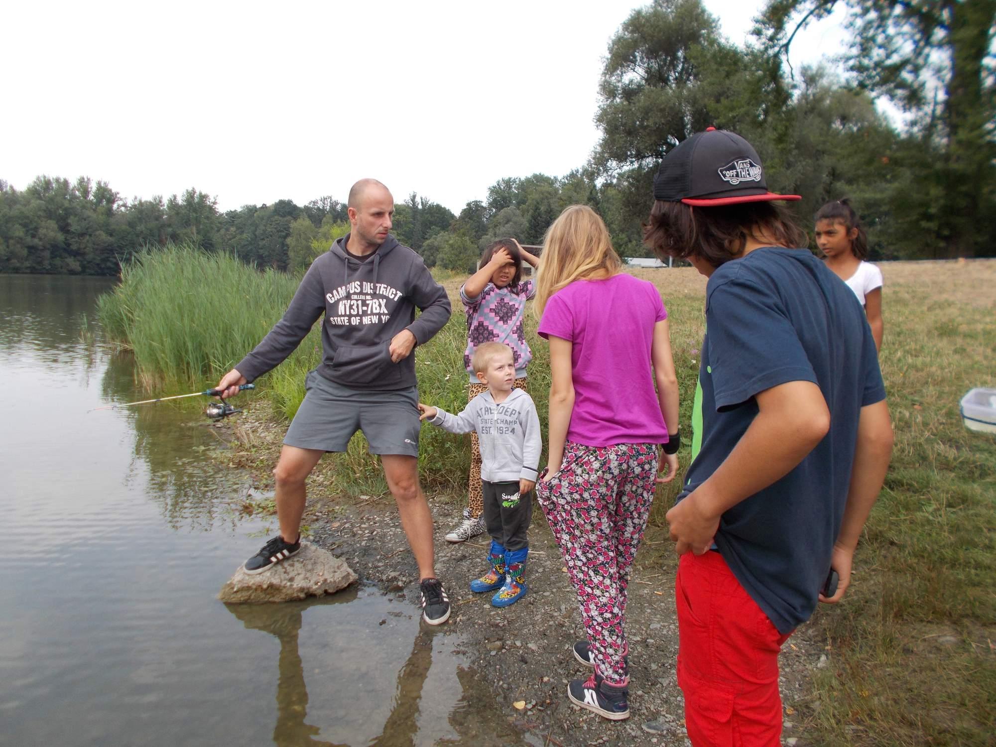 Děti na rybách 19.8.015 - Motoklub Havrani Havířov z.s