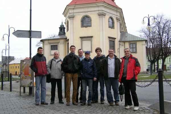Zubří v Holešově - Zleva: Pavel Paseka, Ivan Daněk, Petr Kubín, Pepa Velčovský, Pavel Cabák, Milan Kulišťák, Zdeněk Ambros, Jožka Krupa