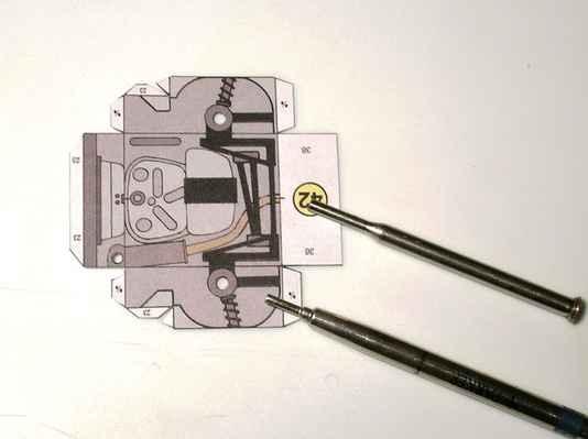 obr. č.37 - Zhotovení otvorů různých průměrů otvorů přímo v dílu.
