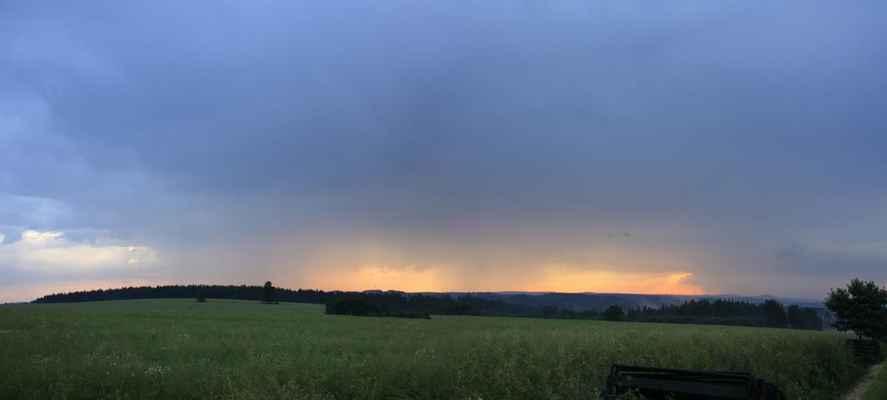 Bouřky při západu slunce