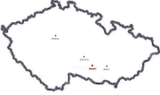Mapa Trebic Mapa
