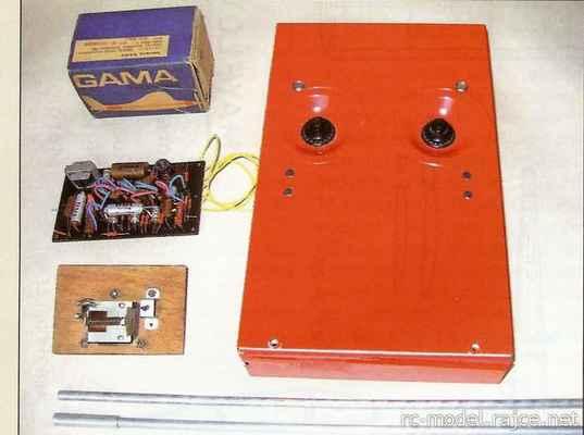 Gama - populární 1-kanálová sériově vyráběná a masově prodávaná RC souprava v ČSSR konstrukce Ing.Jan Hajič,  výroba Tesla Kolín