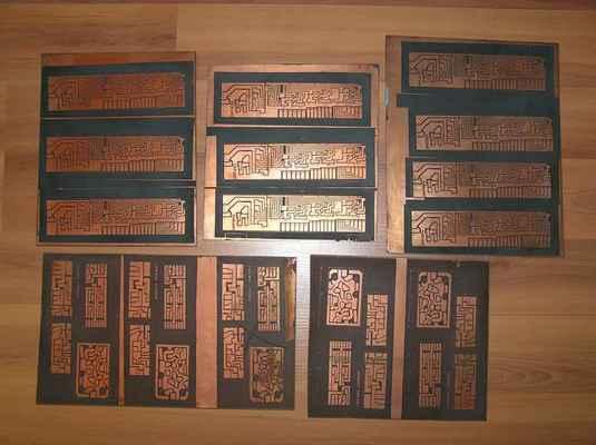 Desky plošných spojů kodéru Variant s moduly