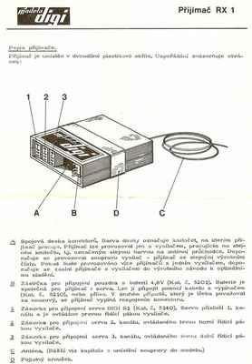 Popis přijímače Modela Digi RX 1