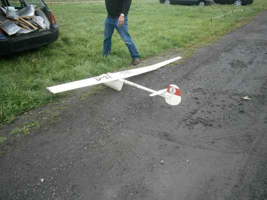 Tenhle Darmstadt D30 má podle mého názoru moc malou hloubku křídla. Při pokusu o aerovlek havaroval.