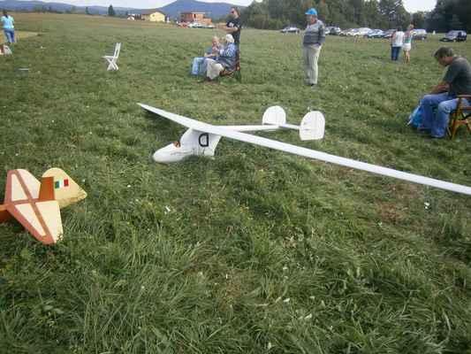 Originál (Austria) měla rozpětí 30 metrů. Model účastníka z Německa.